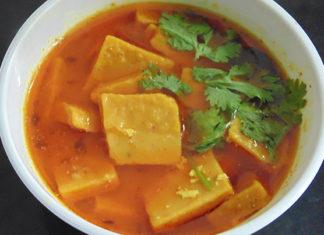 Famous Kathiyawadi Spicy recipe-Dhokli nu Shaak by Chef Debananda Sarkar- Heritage Khirasara Palace, Rajkot