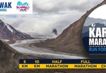 International marathon at Kargil