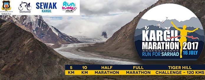 International marathon at Kargil