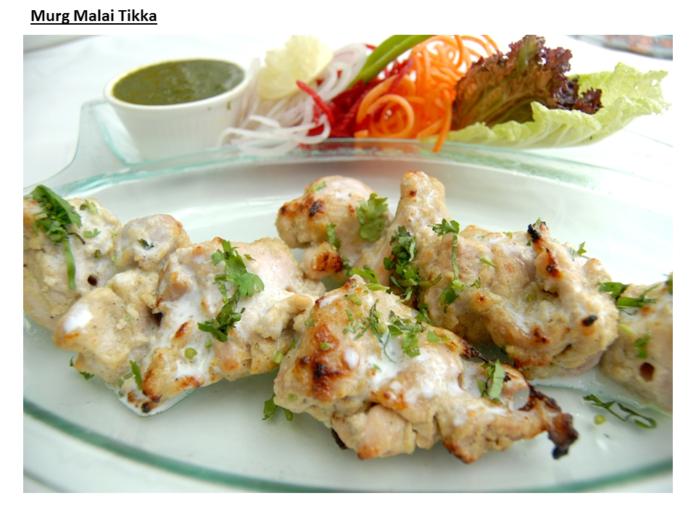 Murg Malai Tikka by Chef Rajiv Bansal-www.rahagiri.com