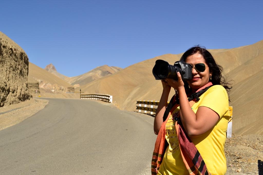Kaynat Kazi on the way to Ladakh