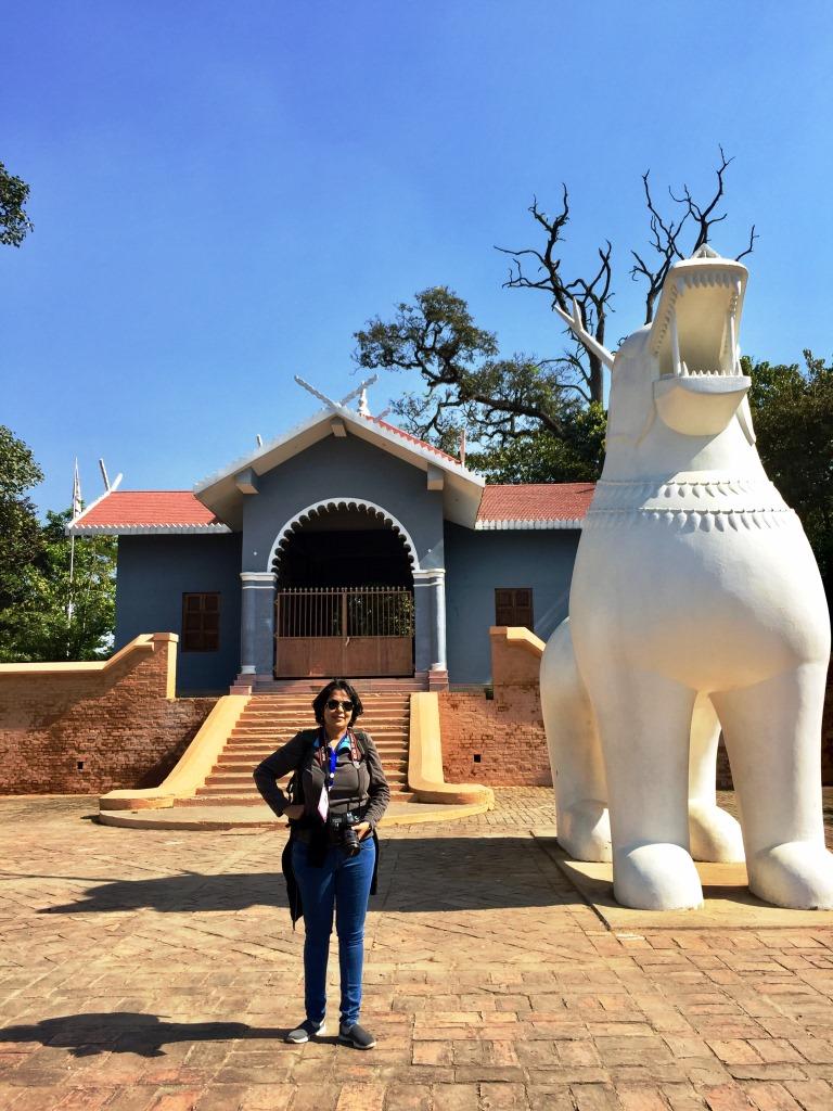 Dr.Kaynat Kazi at Kangla Palace, Imphal, Manipur
